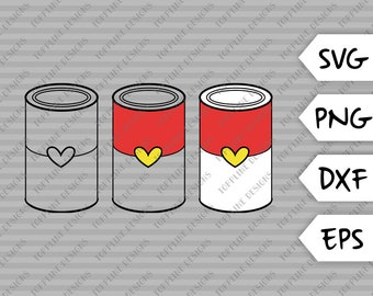 Can of Love - SVG, PNG, DXF, eps - Cut File, Soup can, Kitchen, Household