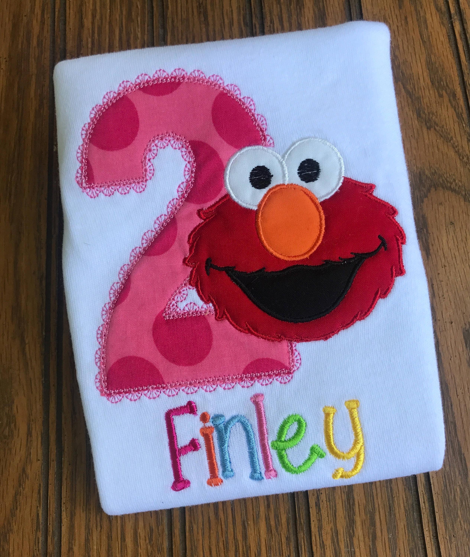 Girl Elmo Birthday Shirt Outfit