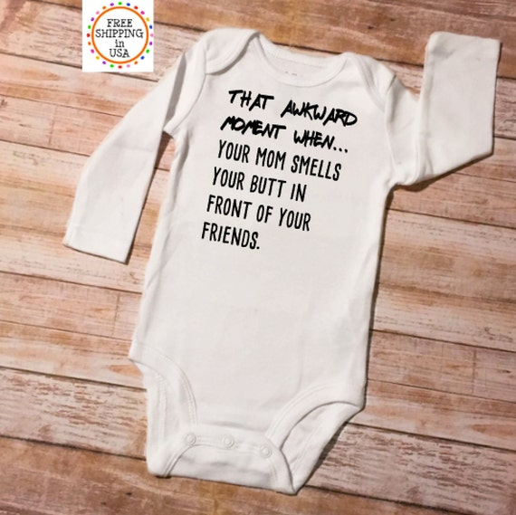 Awkward Moment Baby Onesie Shirt Shower Gift Funny Infant Newborn Clothes Gerber
