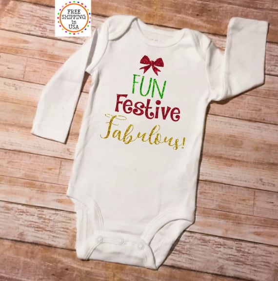 Xmas Personalized baby,customized Vests,bodysuit Funny xmas Christmas 5 costume