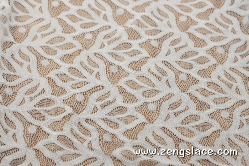 Leaf lace fabricUnique Bridal Lace TopBridal Jacket lace fabric French Lingerie Lace FabricLace Dress FabricLace by the yardFL-07