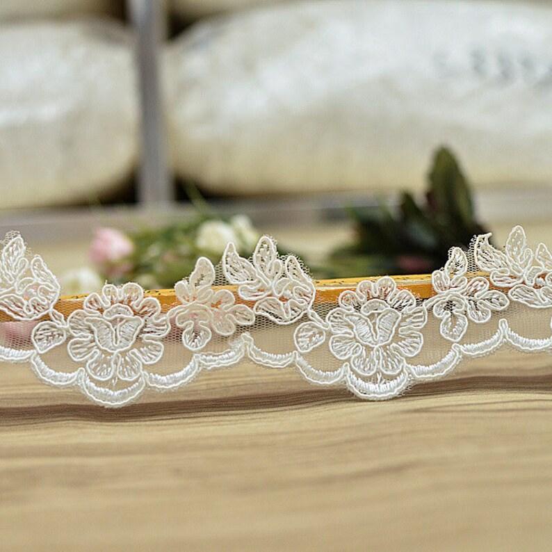 Bridal Lace TrimOff-White Lace TrimOff-White Alencon lace trimBoho Wedding Dress LaceLace Wedding DressBridal Veil Lace TrimAL-61
