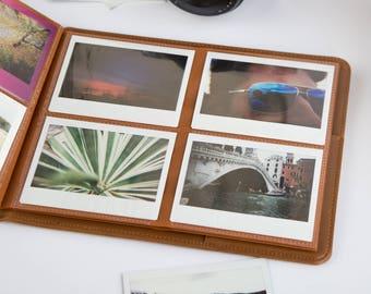 Instax Wide Photo Album for 80 Photos. Personalized Or Blank Cover. Photo Album for Fujifilm Instax Wide 200, 210, 300, FP-100c.