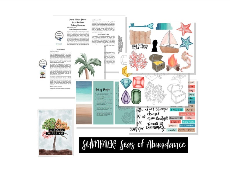 Bible Journaling Printable Devotion Kit - Seasons of Prayer: Summer Seas of  Abundance (Creative Faith Cutables)