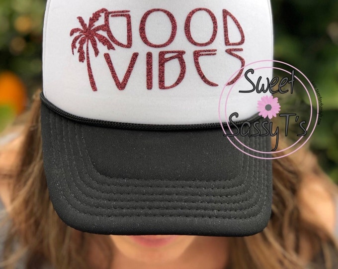 GOOD VIBES mother trucker style hat