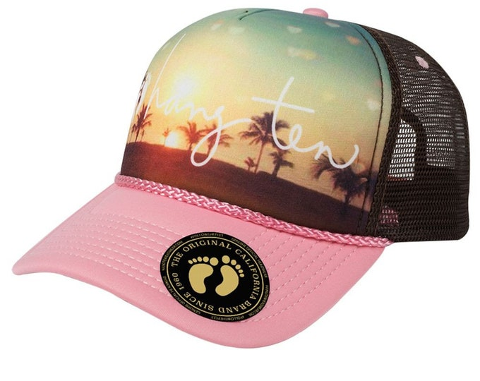 HANG TEN BEACH Scene - Mother Trucker Style Trucker Hat