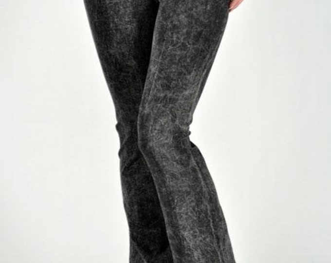 Black mineral wash yoga pants by t-party