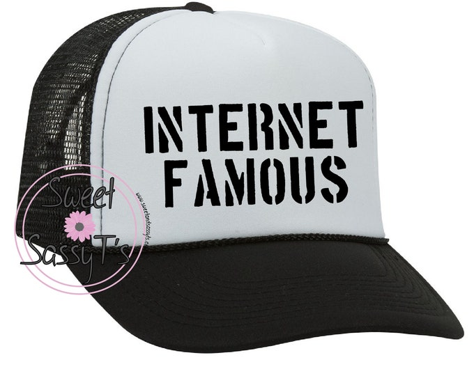 INTERNET FAMOUS mother trucker style hat