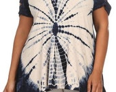 PLUS SIZE Tie dye slit sleeve by T-PARTY