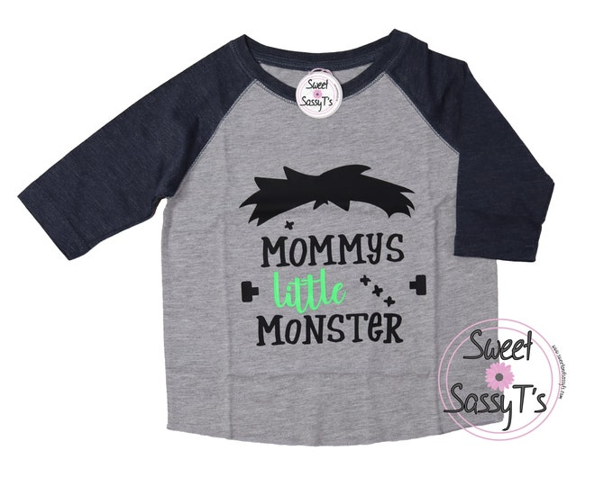 Mommy's Little Monster baseball tee