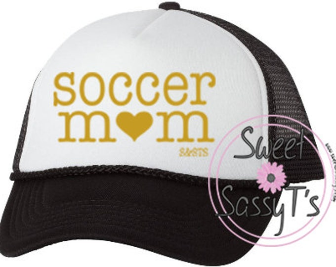 SOCCER (sports) MOM mother trucker style hat - ADDITIONAL colors available upon request