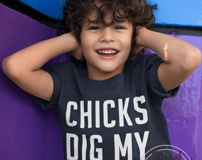 CHICKS Dig MY Curls Toddler Tee