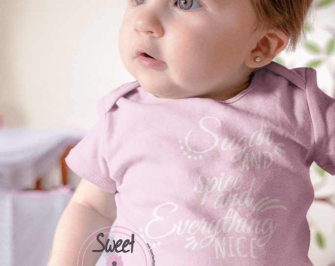 Sugar and spice infant bodysuit