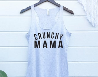 Crunchy Mama Tank. Hippie Natural. Cloth Diaper Breastfeeding Yoga Plants Gypsy Soul. Organic Vegan Sun Raw Elderberry Nameste Hipster Boho.