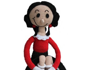 Olivia - Crochet Doll - Pdf pattern
