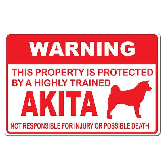 Akita Bone sticker L106 8 inch japanese akita dog decal