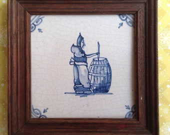 Tile, woman with tons