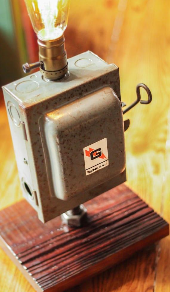 fuse box light, vintage lighting, rustic light, edison bulb lighting, fuse box lamp, rustic industrial lamp Vintage Fuse Boxes