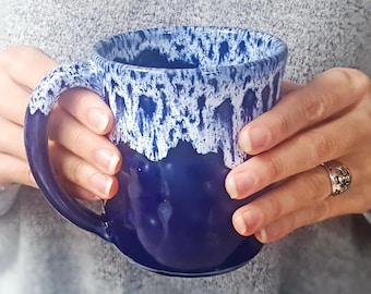 Big mug Ceramic mug Large mug Pottery mug Mother's Day Unique mug Large coffee mug Coffee gift Mugs pottery 500 ml 400 ml mug Husband Gift