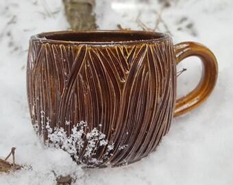Pottery mug Fathers day gift Ceramic mug handmade Big mug 500 ml mug Large mug Stoneware mug Large pottery mug Unique coffee mug