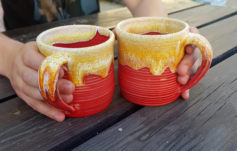 Pottery Mug 18 Oz Unique Coffee Mug Ceramic Mug Mugs Handmade Etsy
