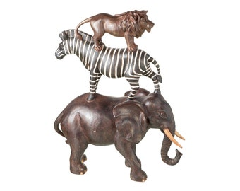 Safari animals statuette