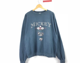 29d0a96b0 Vintage Disney Sweatshirt Mickey Mouse Pullover Jumper Sweater Mickey Mouse  Minnie Donald Duck Pluto Winter