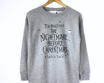 Tim Burton Christmas Jumper.Rare Tim Burton Sweatshirt Christmas The Nightmare Before Etsy