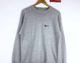 2dae2bb7 Vintage 90's Nike Sweatshirt Nike USA Made Small Logo Pullover Jumper  Sweater Sportwear Hip Hop Swag made in USA