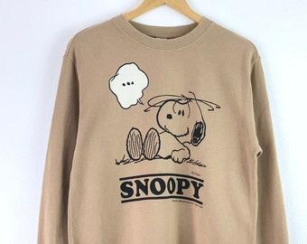 Vintage Peanuts Sweatshirt Jumper Pullover Peanuts Snoopy Cartoon Skate  Hawaii Beach 3105b94bd1b