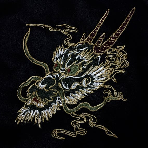 Dragon Tiger Rare Embroidery Japanese Sukajan Souvenirs Bomber Fighting Zipper Blossom Traditional Cherry Japanese Dragon Vintage Jacket q0OAxrH08