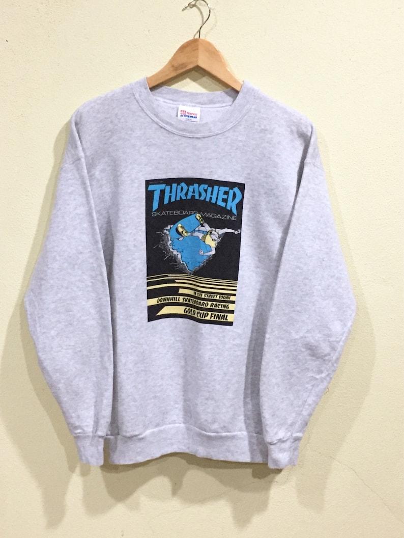1c6087b4f2cd Rare Vintage Thrasher Sweatshirt Hanes Thrasher Skateboards   Etsy