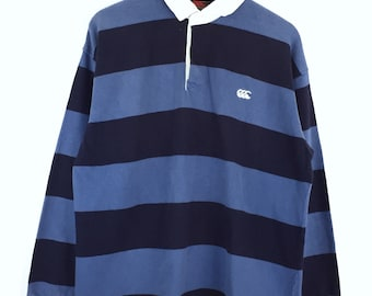 Rare!!! Vintage Canterbury Sweatshirt Canterbury of New Zealand Embroidery Small Logo Stripes Pullover Jumper