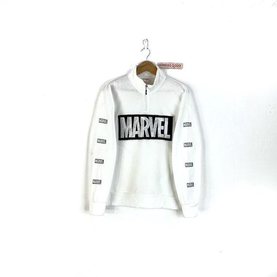Rare!!! Vintage Marvel Sweatshirt Marvel Half Zipp
