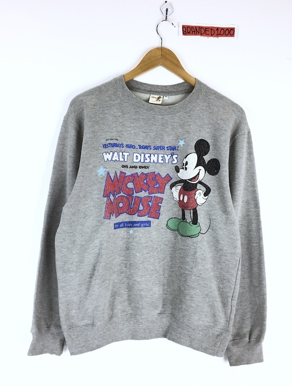 Rare Sweat Shirt Mickey Mouse Vintage Pull Pull Pull Modes De