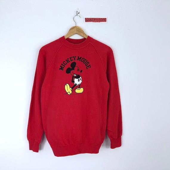 Vintage Mickey Mouse Long Sleeve Sweatshirt Pullover Jumper Sweater Character Fashions Cartoon Disney Rare!!