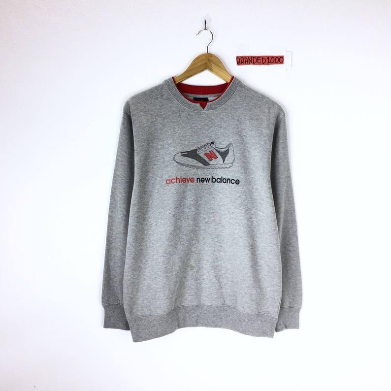 bbc618c399631 Rare!!! Vintage New Balance Sweatshirt Pullover Jumper Small Embroidered  Logo Hip Hop Swag Sweater