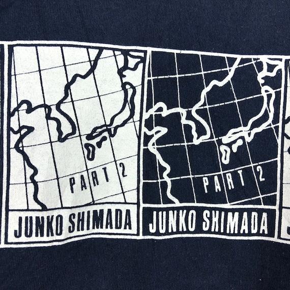 Vintage Junko Shimada Sweatshirt Part 2 Junko Shimada Spell Out Front Shirt Blue Colour Size M Numbernine Undercover Comme des Garcons
