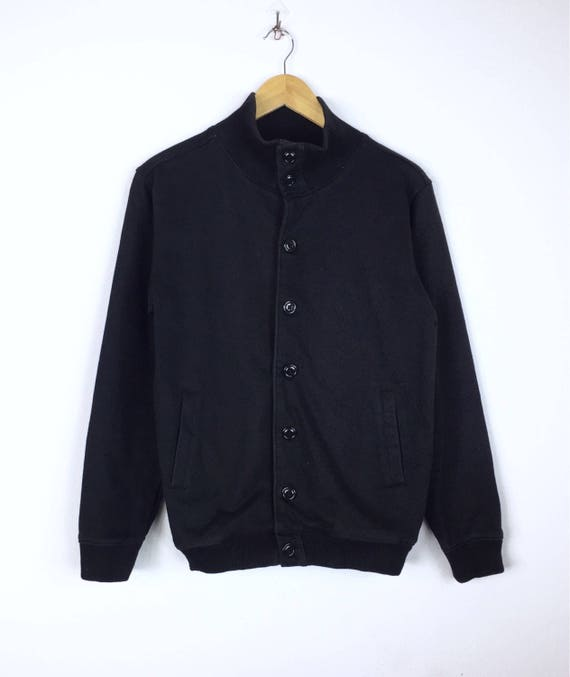Rare!!! Vintage 90s Ships Bomber Jacket Button Japanese Brand Pullover Fully Jumper Sweater Hip Jop Swag Skateboards