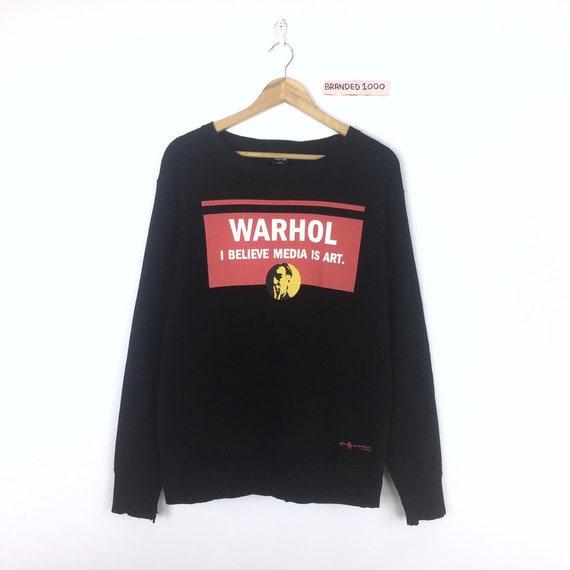 Rare!!! Warhol Sweatshirt Warhol Media Is Art Big