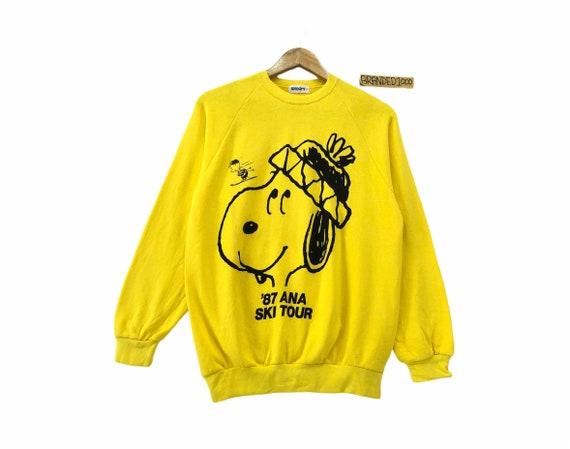 Rare!!! Peanut Snoopy Sweatshirt Big Logo Pullover