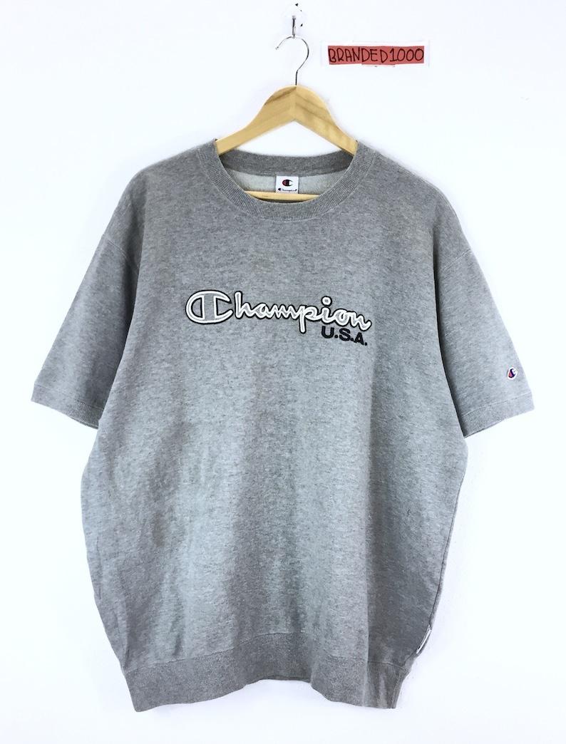 22a3aea9 Rare Vintage Champion Sweatshirt Short Sleeve Champion Big | Etsy