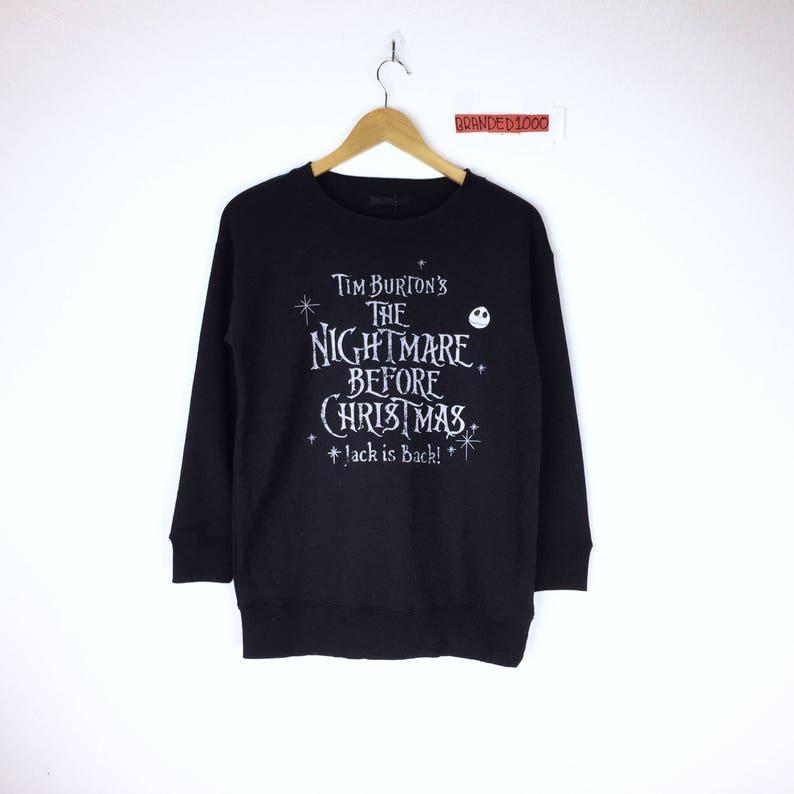 Tim Burton Christmas Jumper.Rare Tim Burton Sweatshirt Christmas The Nightmare Before Christmas Jack Is Back Jumper Sweater Disney