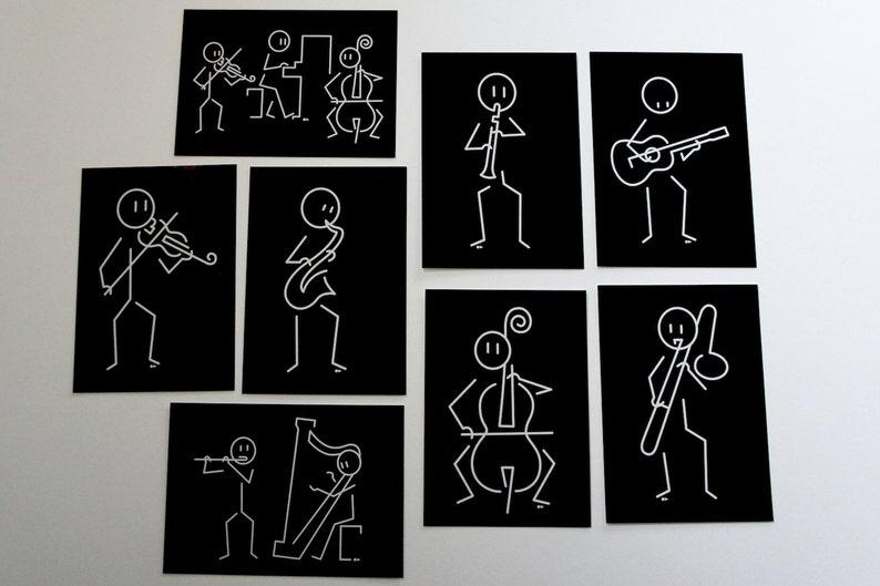 Musicians  8 postcards image 0