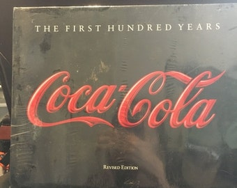 """ON SALE Vintage Book Non Fiction """"The First Hundred Years Coca Cola"""" Hardcover Large Book"""