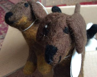 Felt Dachshund- Mini Smooth Felt Dachshund- Hand Made