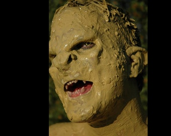Prosthetic half face mask - Lord of the Rings troll makeup