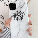 Marble iPhone case.iPhone 11 case.iPhone 11 Pro Max case.iPhone 11Pro case.Monogram iPhone 11 case.Personalized Marble case.iPhone 11 Marble