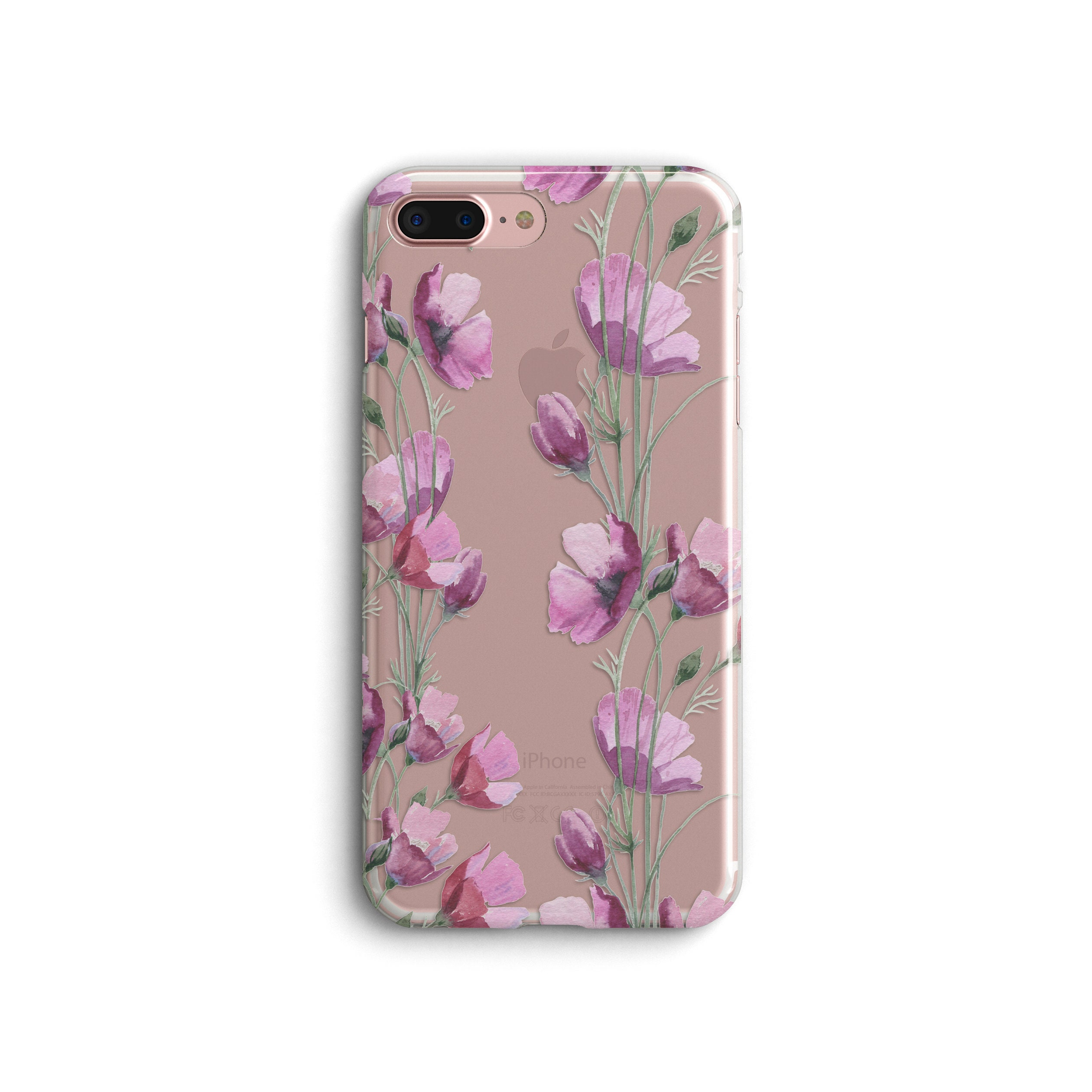Floral Iphone 8 Plus Case Iphone Xr Case Iphone Xs Max Etsy