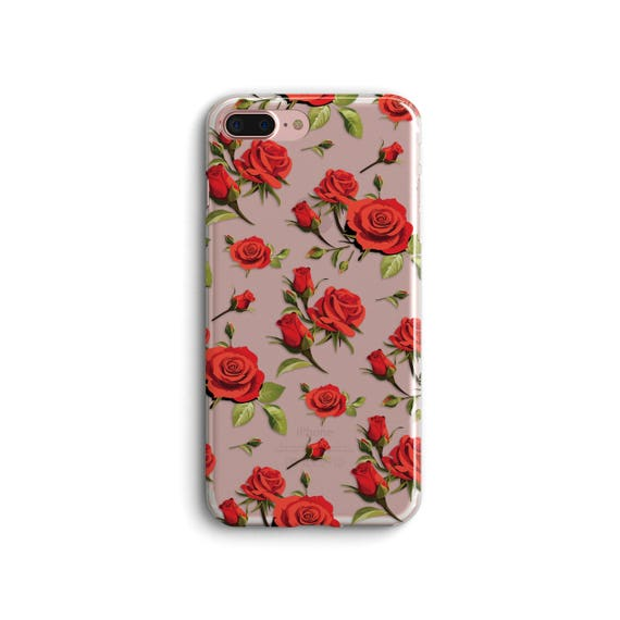brand new a9a07 4a5a1 Red Roses.Floral.iPhone 8 Plus case.iPhone 7 case.iPhone 7 Plus case.iPhone  8 case.iPhone X case.iPhone 6 case.iPhone 6 Plus.Flower.Rose Bud